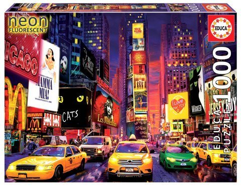Puzzle 1000 el. Times Square / Nowy Jork (fluorescencyjne)