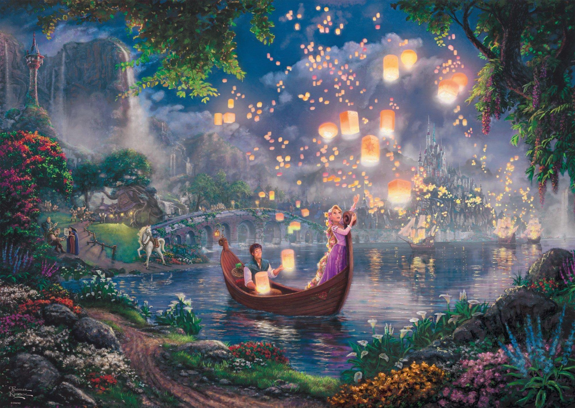 61838b3f396ef3 PQ Puzzle 1000 el. THOMAS KINKADE Roszpunka (Disney) » sklep ...
