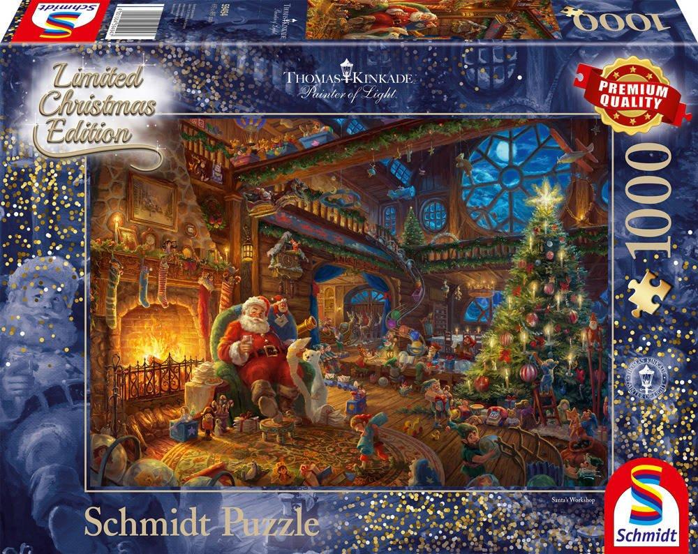 e83cd0bb420dcb PQ Puzzle 1000 el. THOMAS KINKADE Święty Mikołaj i jego elfy » sklep ...