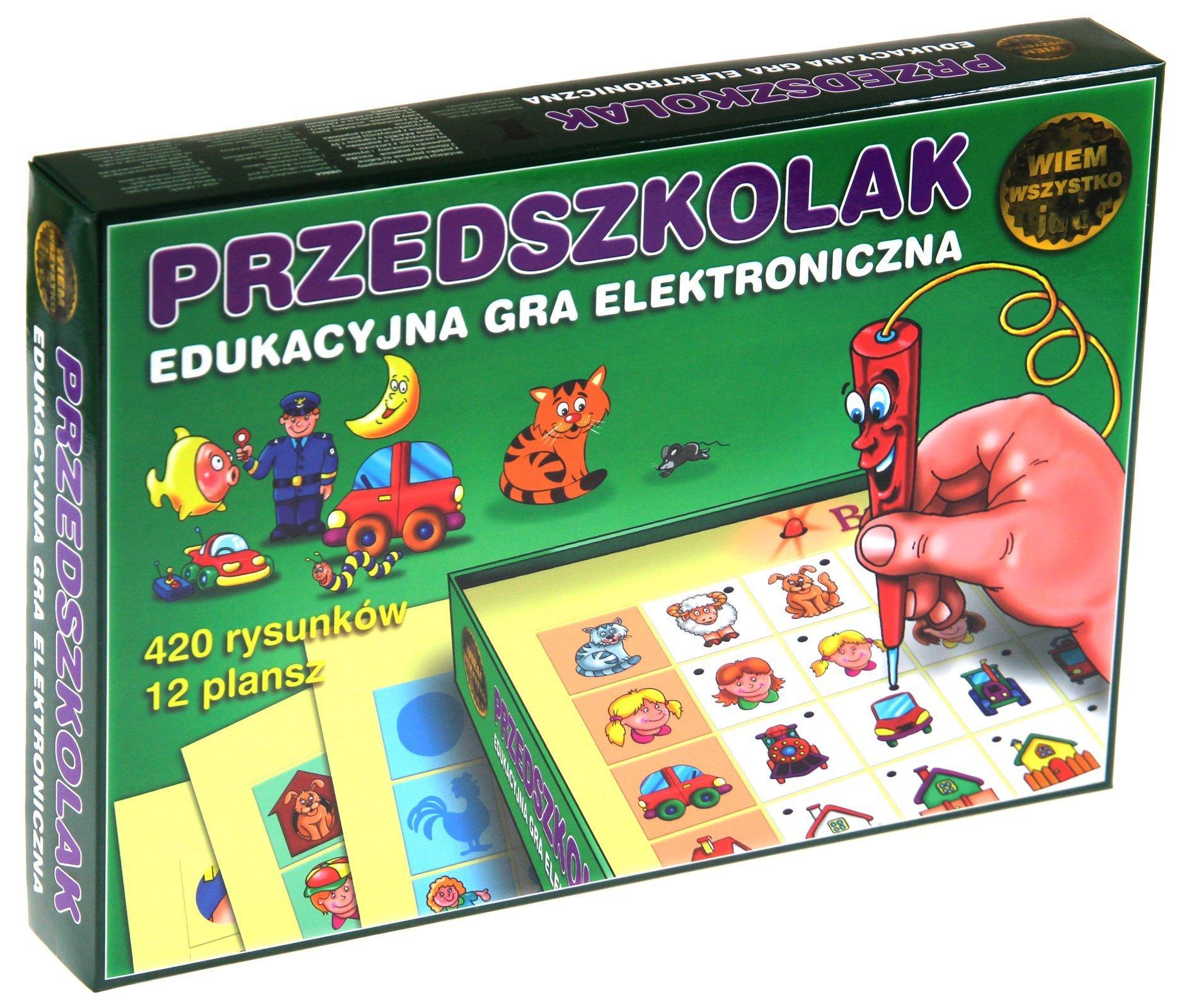 Przedszkolak gra elektroniczna