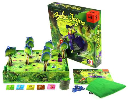 Zawartość pudełka gry Baba Jagna