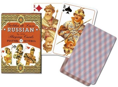 Karty 1134 Golden Russian (55 cards) blue