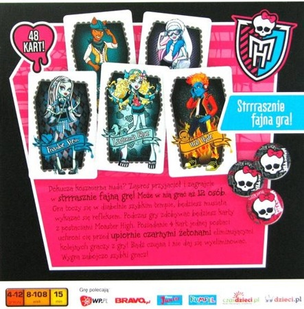 Monster High - gra karciana (48 kart)