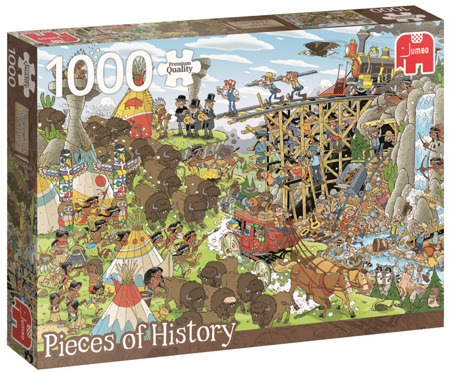 Puzzle 1000 el. PC PIECES OF HISTORY Dziki Zachód