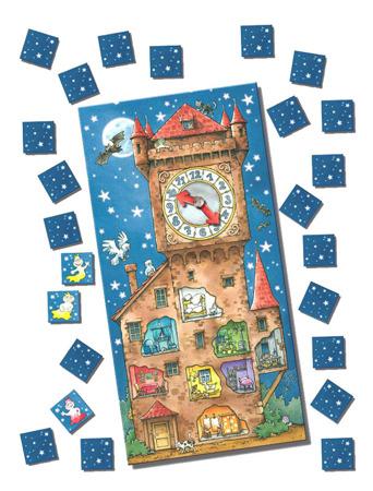 Wieża duchów - plansza z zegarem i kafelki