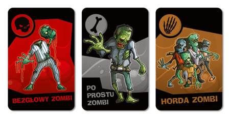 Zombi! Ratuj się kto może! - przykładowe karty